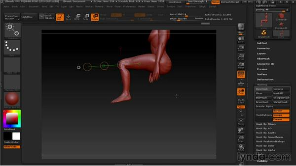 Posing the base: Modeling a Female Android in ZBrush