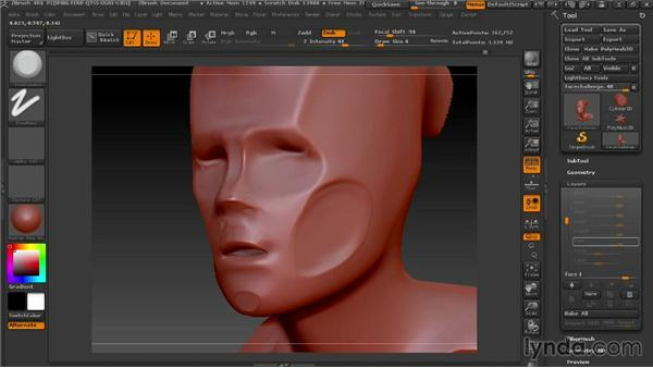 Solution: Finish the design: Modeling a Female Android in ZBrush