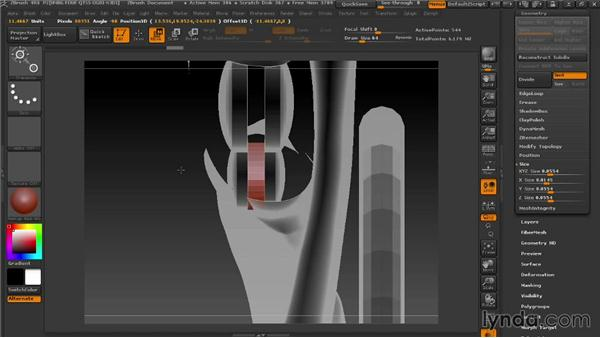Connecting the knee joints with the android: Modeling a Female Android in ZBrush
