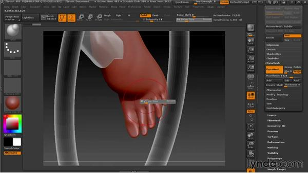 Making a foot with DynaMesh: Modeling a Female Android in ZBrush