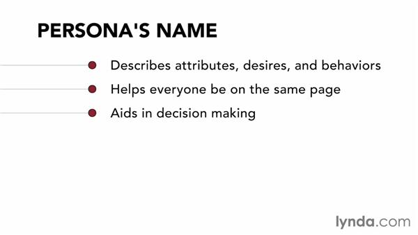 Knowing the benefits of personas