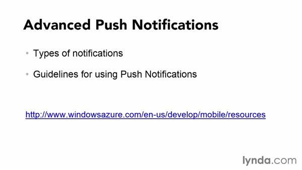 Azure push notifications: Using Windows Azure with Windows Phone 8