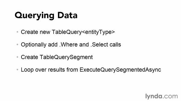 Querying data: Using Windows Azure with Windows Phone 8