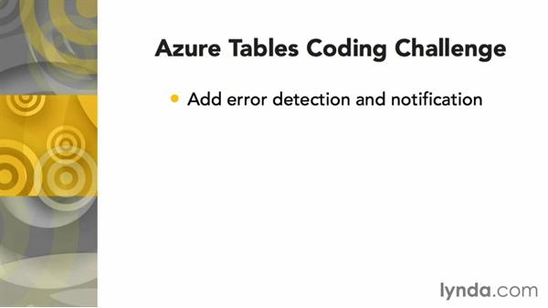 Challenge: Bulletproofing your Azure tables code: Using Windows Azure with Windows Phone 8