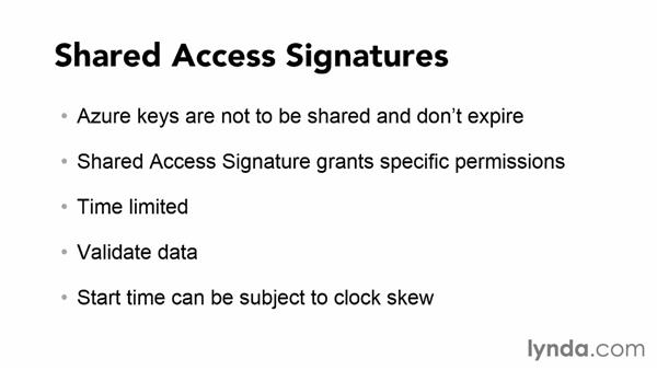 Using shared access signatures: Using Windows Azure with Windows Phone 8