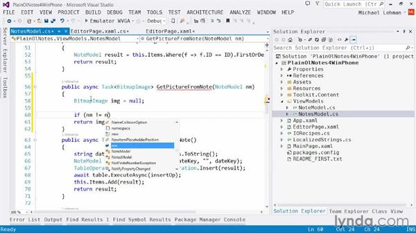 Solution: Downloading a blob to the UI: Using Windows Azure with Windows Phone 8