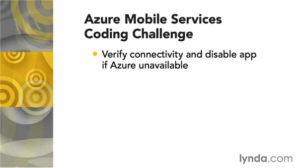 Challenge: Verifying Azure connectivity: Using Windows Azure with Windows Phone 8