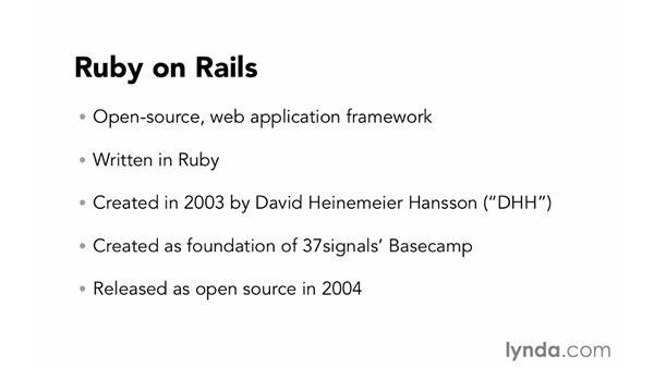 Introducing Ruby on Rails: Ruby on Rails 4 Essential Training