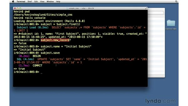 Updating records: Ruby on Rails 4 Essential Training