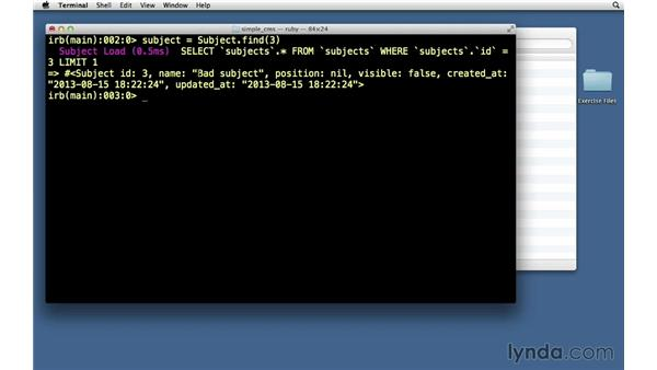 Deleting records: Ruby on Rails 4 Essential Training
