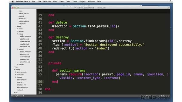 Solution: Pages and sections CRUD: Ruby on Rails 4 Essential Training