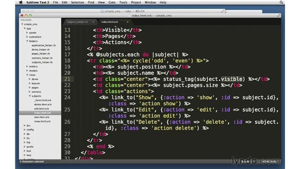 Custom helpers: Ruby on Rails 4 Essential Training