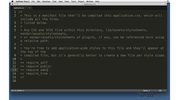 Stylesheets: Ruby on Rails 4 Essential Training