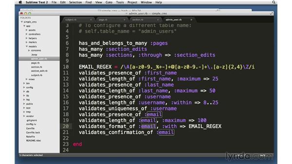 Using validation methods: Ruby on Rails 4 Essential Training