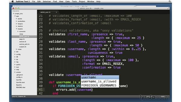 Custom validations: Ruby on Rails 4 Essential Training