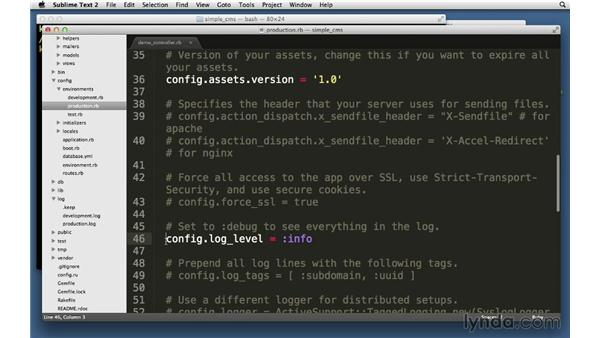 Logging to log files: Ruby on Rails 4 Essential Training
