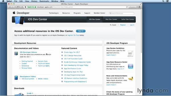 Becoming a registered Apple Developer: iOS App Development Essential Training