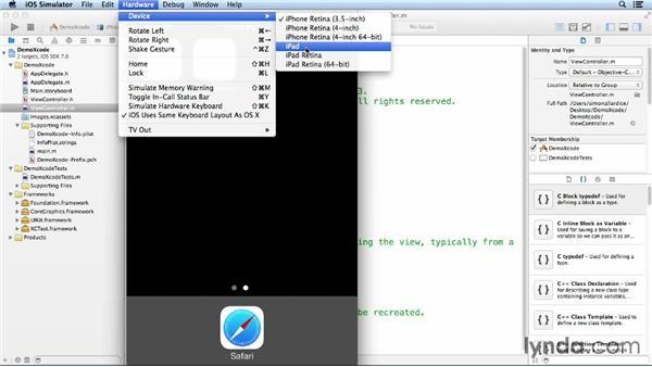 Using the iOS Simulator: iOS App Development Essential Training
