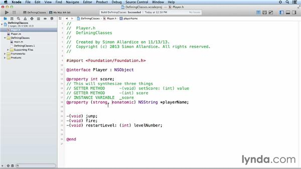 Adding properties: iOS App Development Essential Training