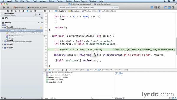 Using the Xcode Debugger: iOS App Development Essential Training