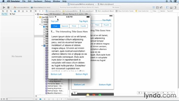 Adding and troubleshooting Auto Layout constraints: iOS App Development Essential Training
