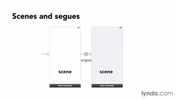Exploring storyboards: iOS App Development Essential Training
