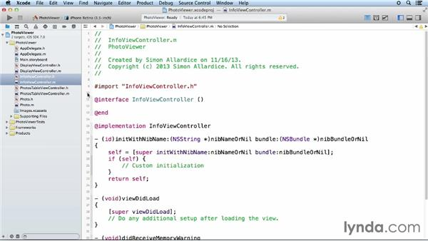 Step two: Creating the custom classes: iOS App Development Essential Training