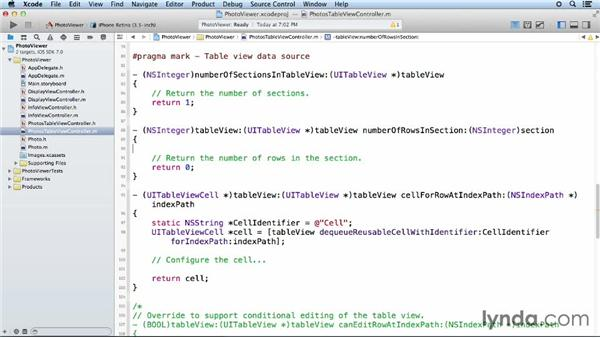 Step four: Loading the data: iOS App Development Essential Training