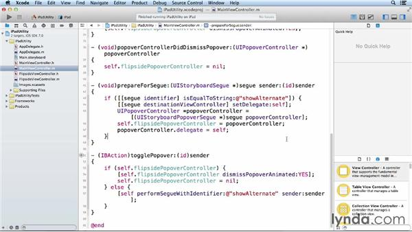 Exploring popovers with an iPad utility app: iOS App Development Essential Training