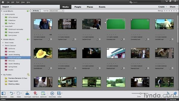Managing media files with the Organizer: Up and Running with Premiere Elements 12