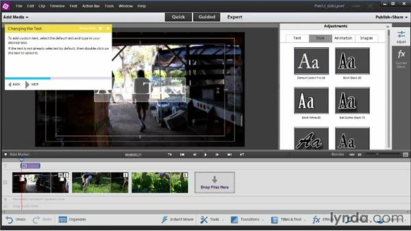Using Guided Edit: Up and Running with Premiere Elements 12