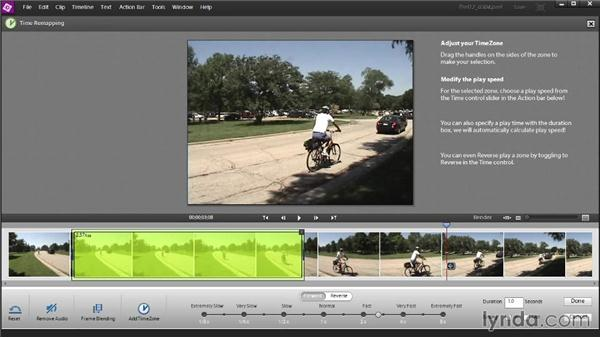 Speeding up or slowing down video segments with Time Remapping: Up and Running with Premiere Elements 12