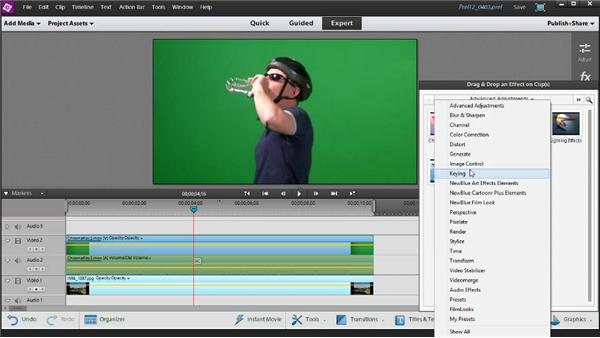 Using the Chroma Key and Videomerge effects: Up and Running with Premiere Elements 12