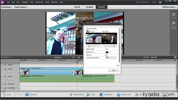Adding and customizing transitions: Up and Running with Premiere Elements 12