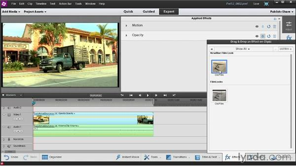 Keyframing video effects: Up and Running with Premiere Elements 12