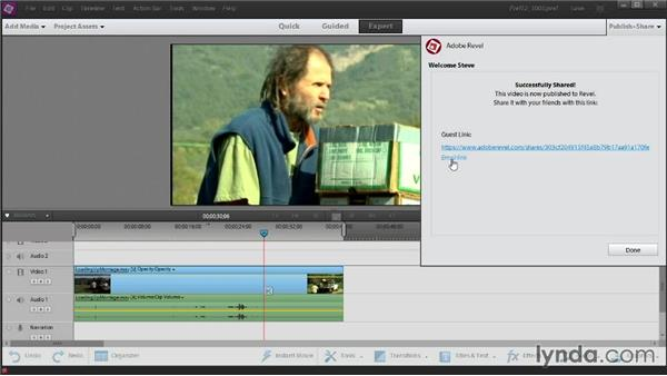 Uploading to Adobe Revel and uploading from the Organizer: Up and Running with Premiere Elements 12