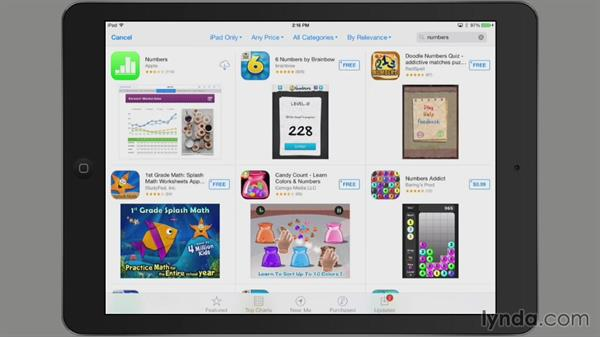 Accessing the App Store in iOS: iWork: Workflows and New Features