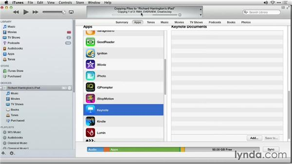 Copying existing documents to a mobile device: iWork: Workflows and New Features