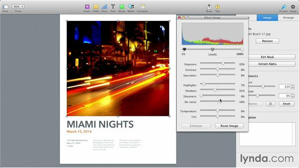 Using the new Format Panel: iWork: Workflows and New Features