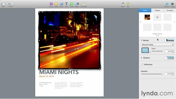 Enhancing objects with styles: iWork: Workflows and New Features