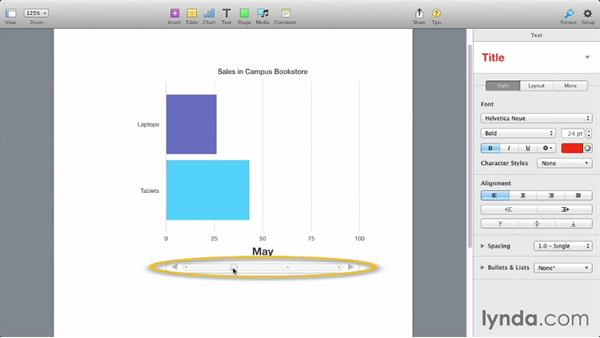 Interactive charts: iWork: Workflows and New Features