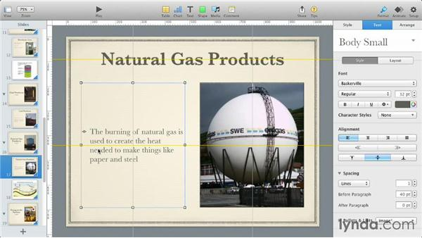 Enhancing text with styles: iWork: Workflows and New Features