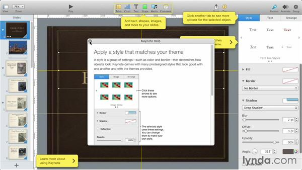 Working with coaching tips: iWork: Workflows and New Features