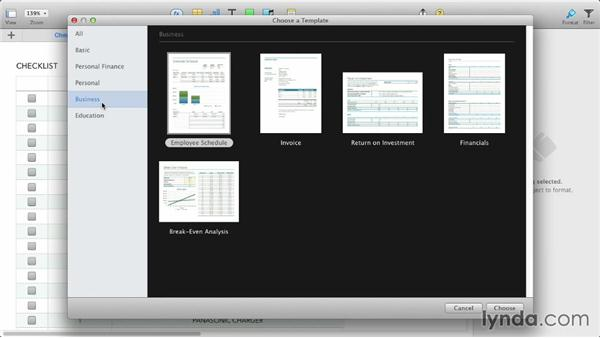 Working with the new templates: iWork: Workflows and New Features