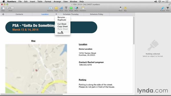 Navigating tabs: iWork: Workflows and New Features