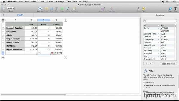 Using smart cell view: iWork: Workflows and New Features