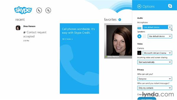 Setting up your microphone and speakers: Up and Running with Skype for Windows
