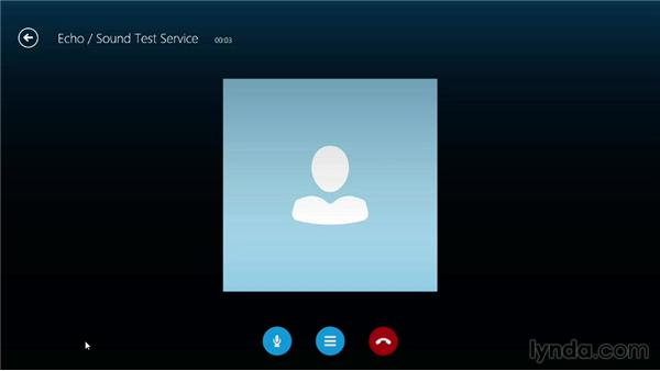 Making a test call: Up and Running with Skype for Windows