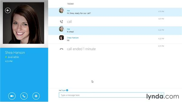 Making a video call and sending video messages: Up and Running with Skype for Windows