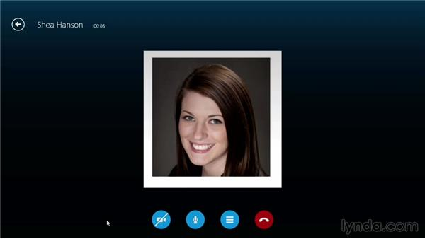 Making an audio call: Up and Running with Skype for Windows